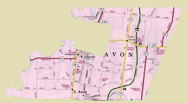 East Avon Fire Department District Map